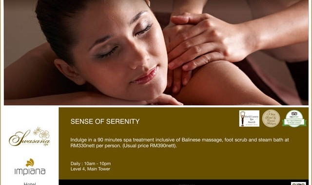 SWASANA SPA : SENSE OF SERENITY PACKAGE