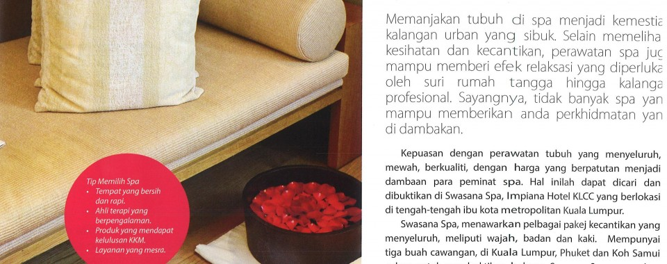 SWASANA SPA : HIJABSTA MAGAZINE (DEC 2015 ISSUE)