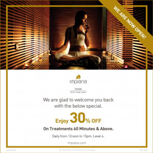 Spa Promotion 30% Discount