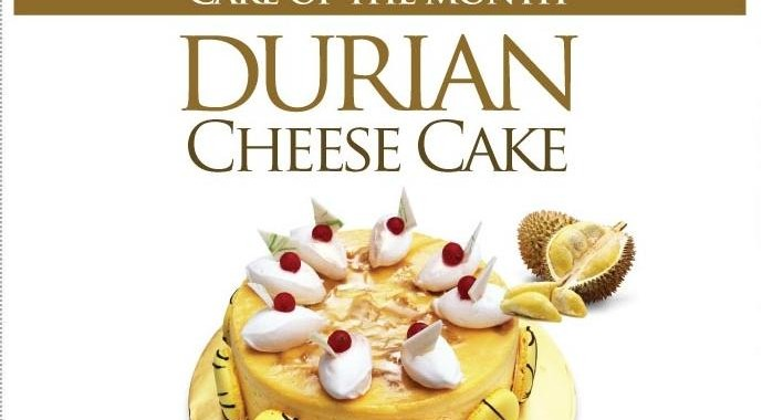CAKE OF THE MONTH : IMPIANA DURIAN CHEESE CAKE