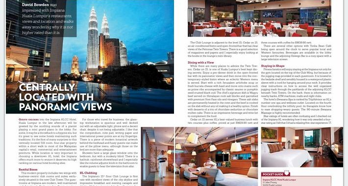 ASIAN JOURNEYS : CENTRALLY LOCATED WITH PANORAMIC VIEWS