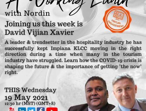 Impiana KLCC Hotel's General Manager, Mr David Xavier on a Virtual Engagement with Mr Nordin Abdullah